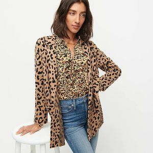 NEW J. Crew Sophie Open Sweater Blazer Leopard L